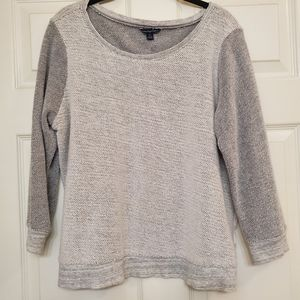 Gray Heather-Knit Sweater